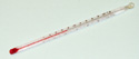 Lab Thermometer 6 Inch Red Alcohol Dual Scale -10 to 60C, 20 to 140F