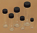 Clear Glass Vials 1/2 Dram