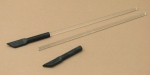 Glass Stir Rod w/Pre-assembled Rubber Policeman 6 Inch (150mm)