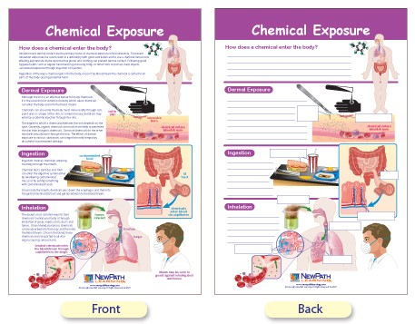 W94-4625 Chemical Exposure Bulletin Board Chart