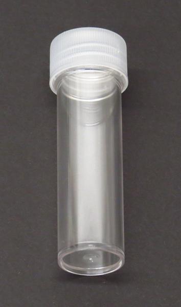 Test tube plastic flat bottom with screw cap