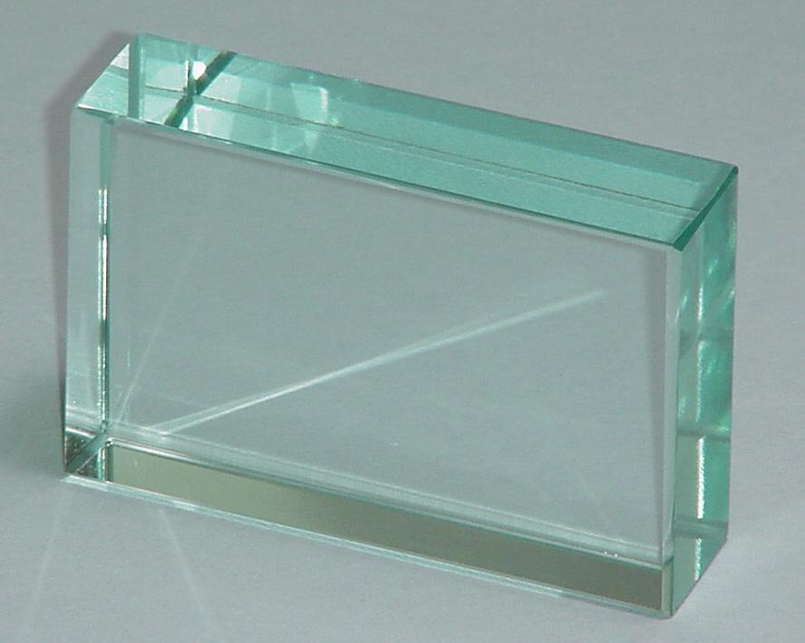 1105 2 Glass Block Rectangular 75 Mm X 50 Mm X 18mm