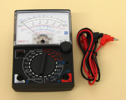 Utility Meter Analog : Multimeter analog with fuse diode protection